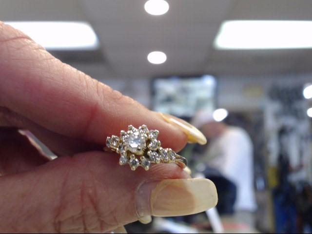 Lady's Diamond Cluster Ring 15 Diamonds .57 Carat T.W. 14K Yellow Gold 1.9dwt