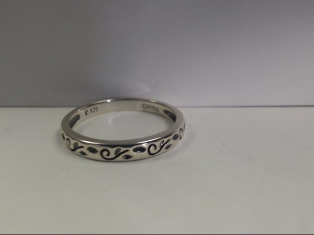 Lady's Silver Ring 925 Silver 2.6g Size:10