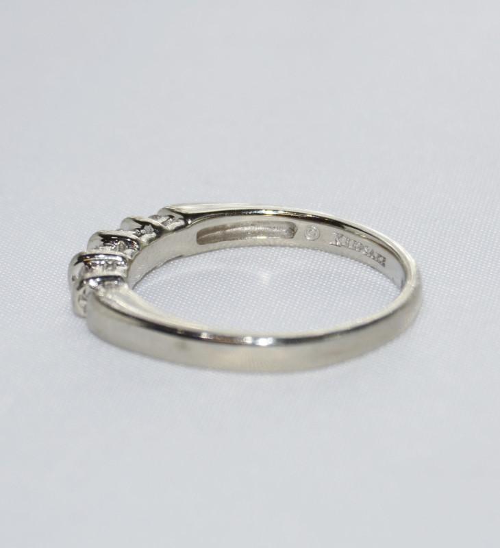 Lady's Diamond Wedding Band 5 Diamonds .75 Carat T.W. 14K White Gold g SIZE 6