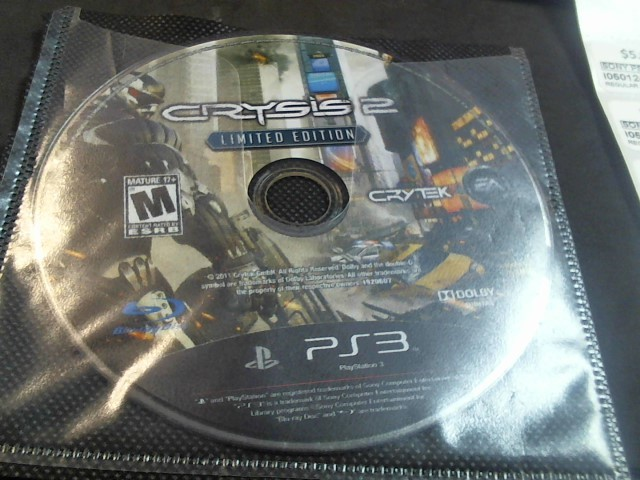 SONY PS3 CRYSIS 2