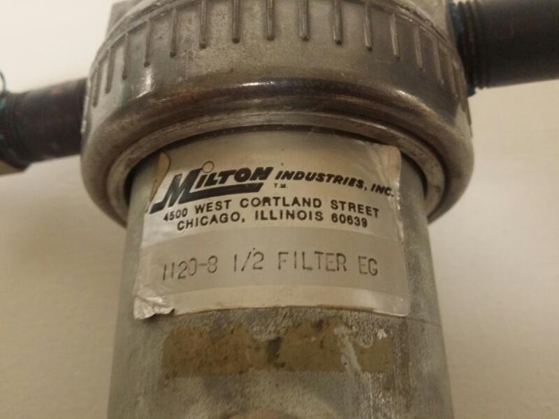 """Milton 1120-8 1/2"""" FILTER METAL BOWL"""