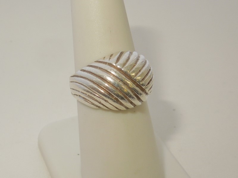 Lady's Silver Ring 925 Silver 6.8g Size:6.5