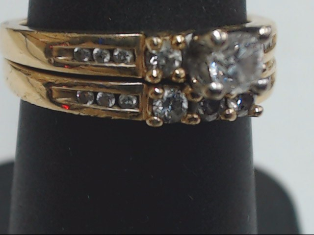 Lady's Diamond Wedding Set 18 Diamonds .43 Carat T.W. 14K Yellow Gold 5.6g