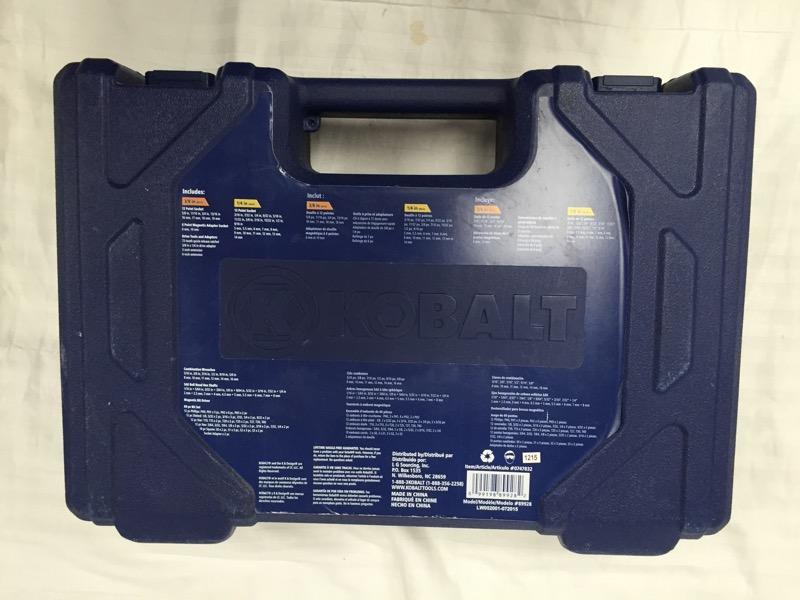 Kobalt 119-Piece Standard SAE & Metric Mechanic's Tool Set with Hard Case
