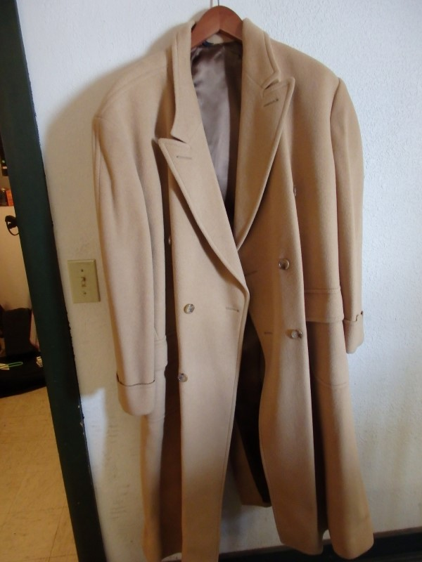 BROOKS BROTHER CAMEL HAIR LONG COAT 58""