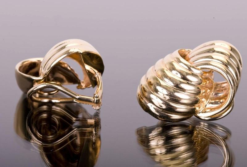 GOLD EARRINGS CLIP-ON 14KYG  17.2g