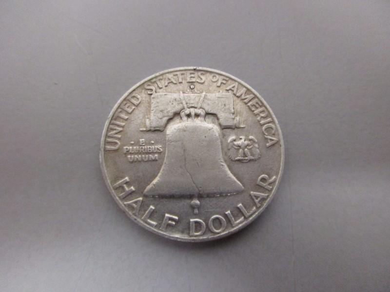 UNITED STATES 1957 FRANKLIN HALF DOLLAR