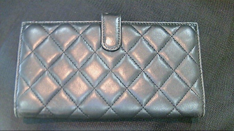 Lady's Chanel Black Leather Wallet