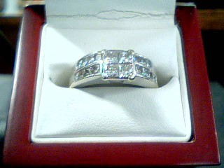 Gent's Diamond Fashion Ring 22 Diamonds 1.42 Carat T.W. 14K White Gold 7g