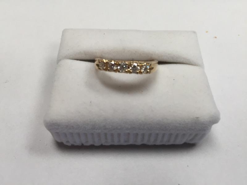 Lady's GOLD/DIA ANNIVERSARY BAND 5 DIAMONDS .50 Carat T.W. 18K YELLOW GOLD