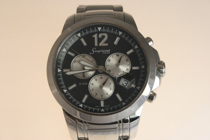 Sapient 3 Dial Stainless Steel Watch