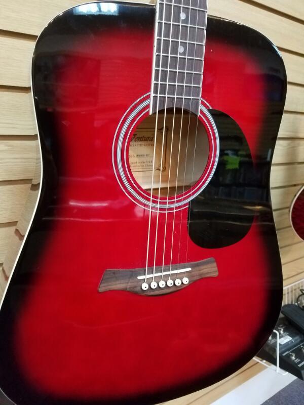 VENTURA GUITAR Acoustic Guitar VWDOBLK