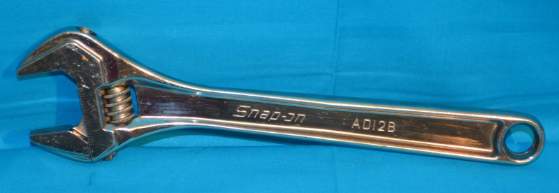 "SNAP ON AD12B 12"" Adjustable Wrench Tool"