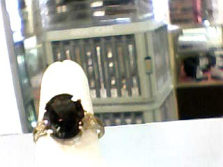 Brown Stone Lady's Stone Ring 10K Yellow Gold 1.3dwt Size:7.5