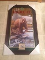 MILLER BREWING COMPANY Photograph HIGH LIFE BROWN BEAR MIRROR