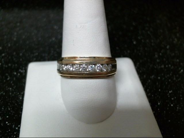 Gent's Diamond Fashion Ring 9 Diamonds .45 Carat T.W. 10K Yellow Gold 3.5g