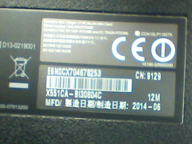 ASUS Laptop/Netbook X551C