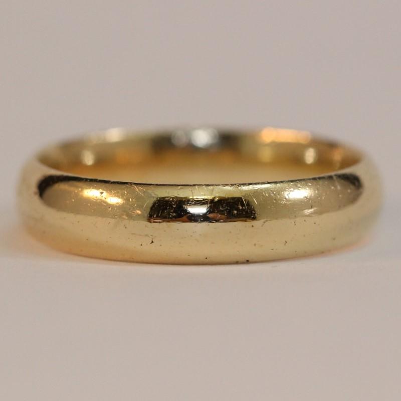 14K Yellow Gold Men's Wedding Band Size 12.5