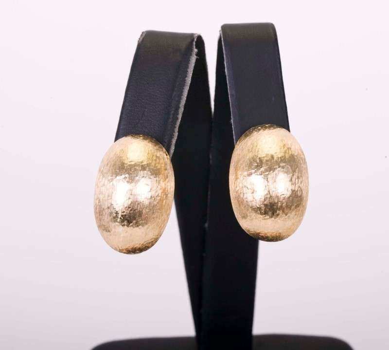 Gold Earrings 14K Yellow Gold 14.7g Clip-on