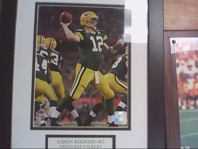 aaron rodgers framed photo