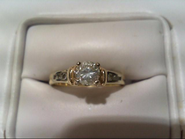 Lady's Diamond Engagement Ring 7 Diamonds .60 Carat T.W. 14K 2 Tone Gold 2.9g