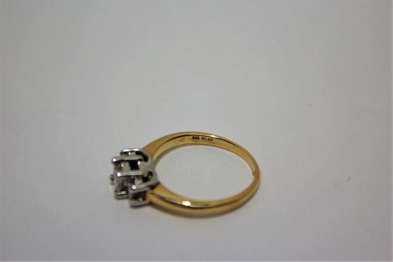 Lady's Diamond Fashion Ring 3 Diamonds .48 Carat T.W. 14K Yellow Gold 3.5g