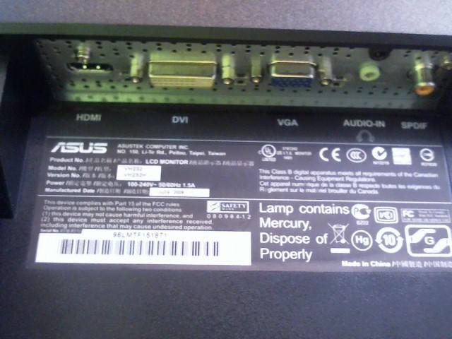 ASUS Monitor VH232