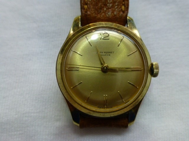 Jean Perret Geneve Unisex Watch Incablock Swiss Made - Pigskin Band