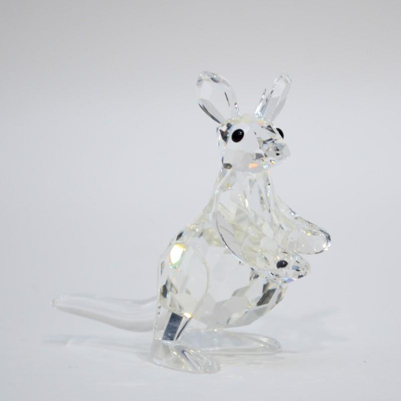 Swarovski Crystal Mother Kangaroo with Joey 7609 000 001 *New NIB*