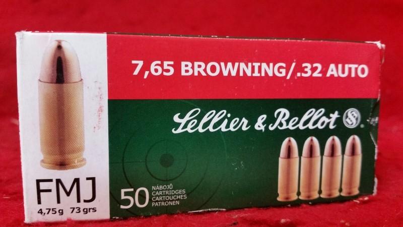 Sellier & Bellot 32acp 73gr Ammo - 50rd