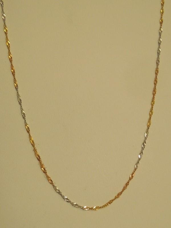 Gold Link Chain 14K Tri-color Gold 1.7g