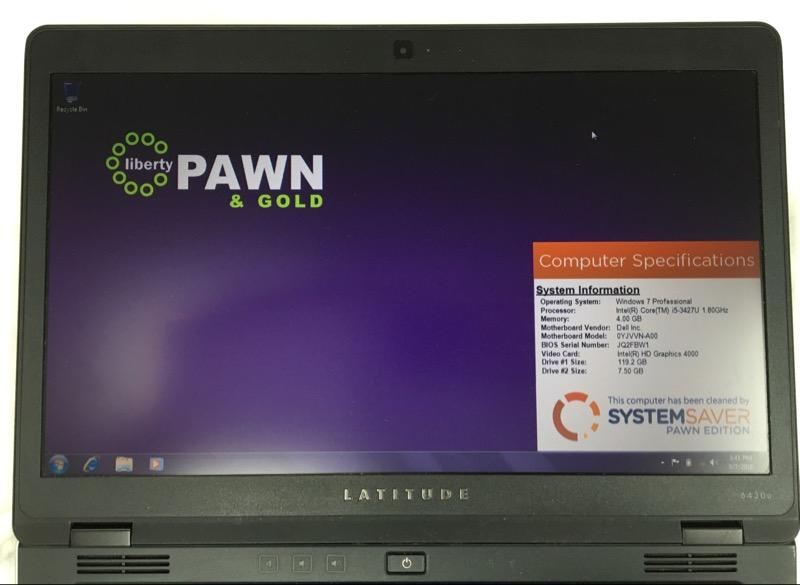 DELL LAPTOP LATITUDE 6430U INTEL I5-3427U 1.80GHZ 128GB HDD 4GB