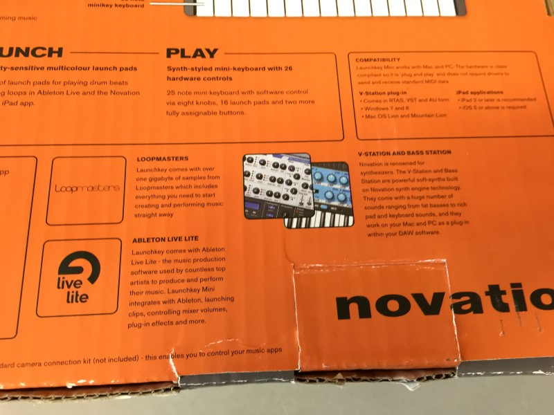 NOVATION LAUNCHKEY MINI 25-key Keyboard Controller w/ Launchpad
