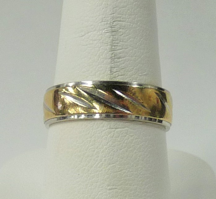 Gent's Gold Wedding Band 14K Yellow Gold 3.05dwt Size:8.8
