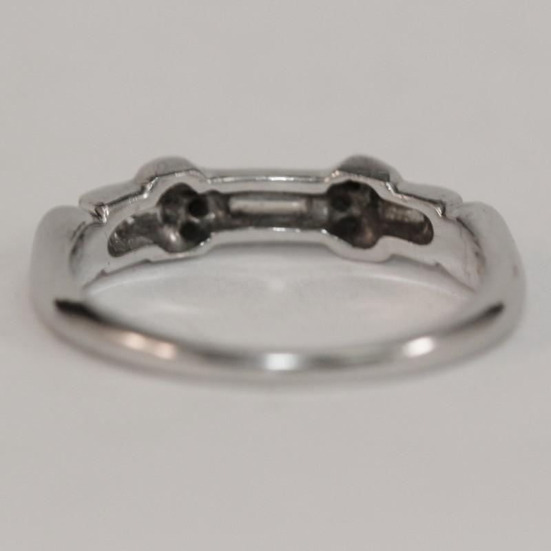 Platinum Baguette and Round Brilliant Diamond Wedding Band Size 5.25