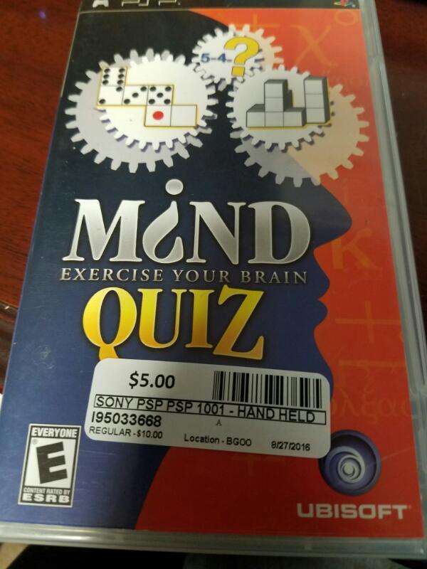 MIND QUIZ-PSP GAMES