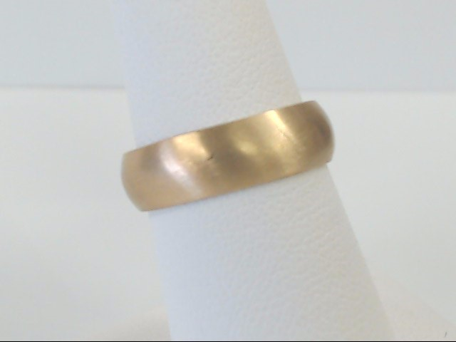 VINTAGE WED RING BAND SOLID REAL 18K GOLD BRUSH FINISH 5.5MM SIZE 7