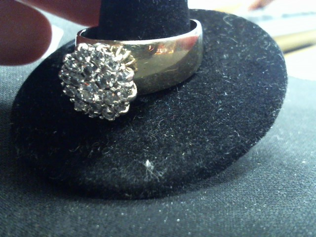 Lady's Diamond Fashion Ring 19 Diamonds 1.46 Carat T.W. 14K Yellow Gold 8g