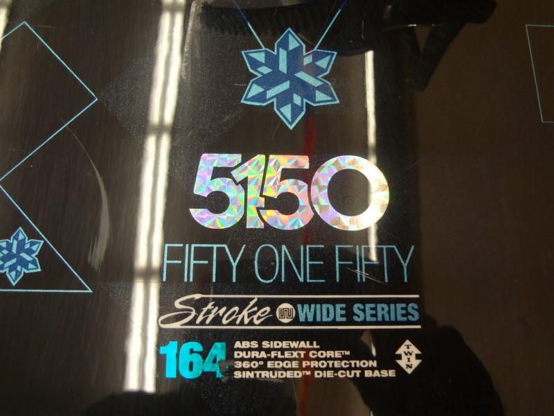 5150 STROKE WIDE SERIES 164CM SNOWBOARD WITH BLACK RIDE BINDINGS