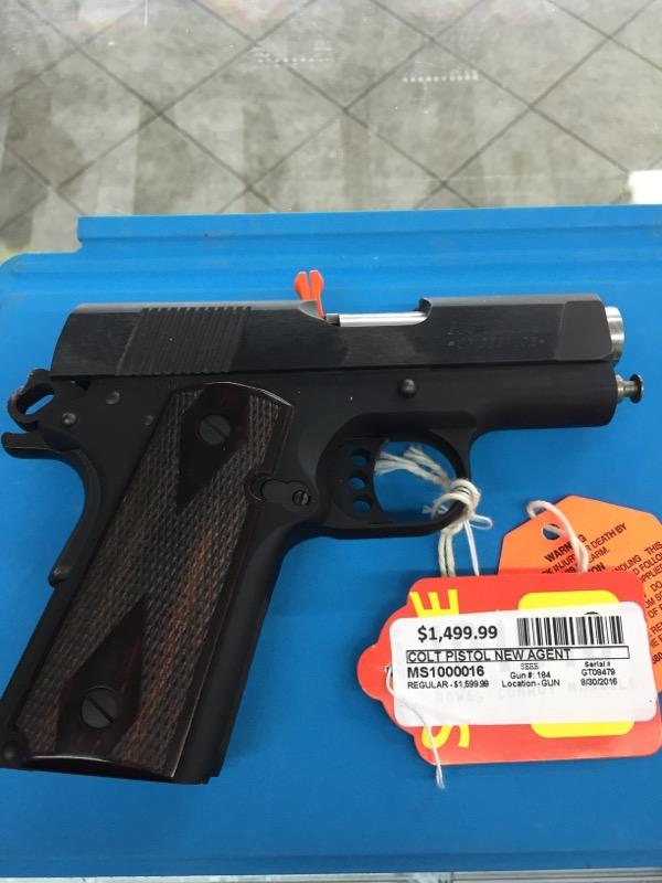 COLT Pistol NEW AGENT
