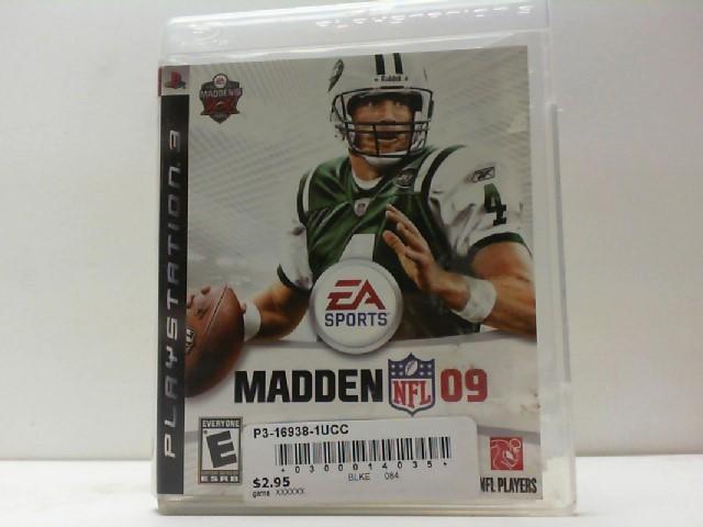 SONY Sony PlayStation 3 Game MADDEN NFL 09