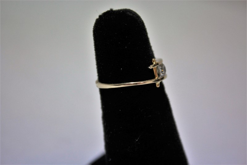 Lady's Diamond Solitaire Ring .24 CT. 18K White Gold 2.1g Size:6