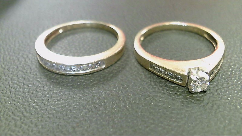 Lady's Diamond Wedding Set 18 Diamonds .78 Carat T.W. 14K Yellow Gold 6.4g