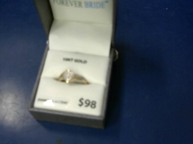 Lady's Diamond Fashion Ring 10 Diamonds .10 Carat T.W. 10K Yellow Gold 1.52g