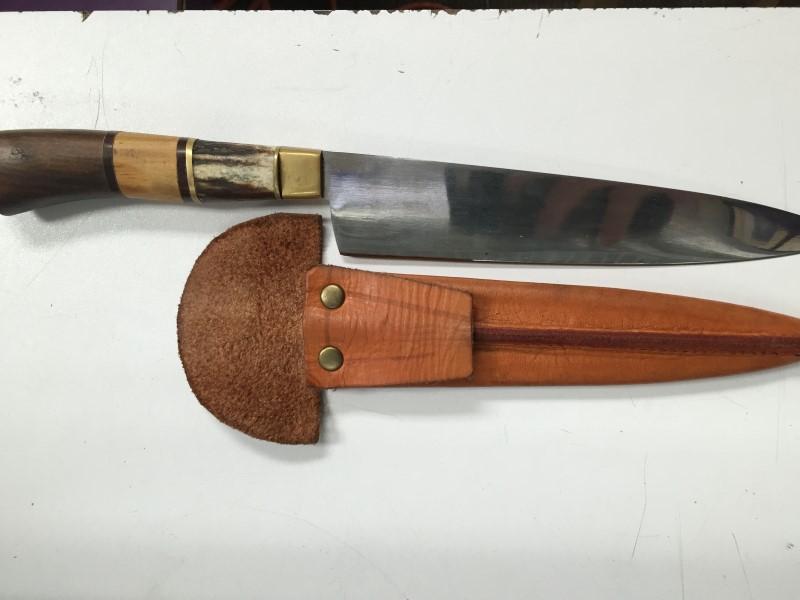 ARGENTINA GAUCHO KNIFE W/SHEATH, DECORATIVE OBJECT.