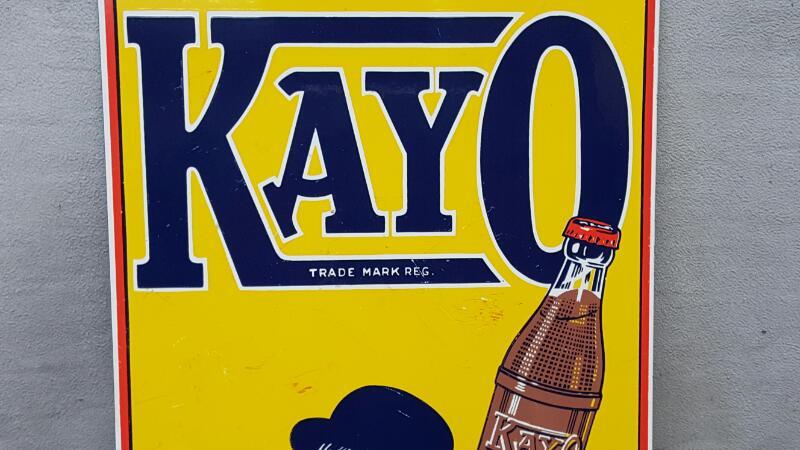 Kayo Chocolate Soda Tin Sign