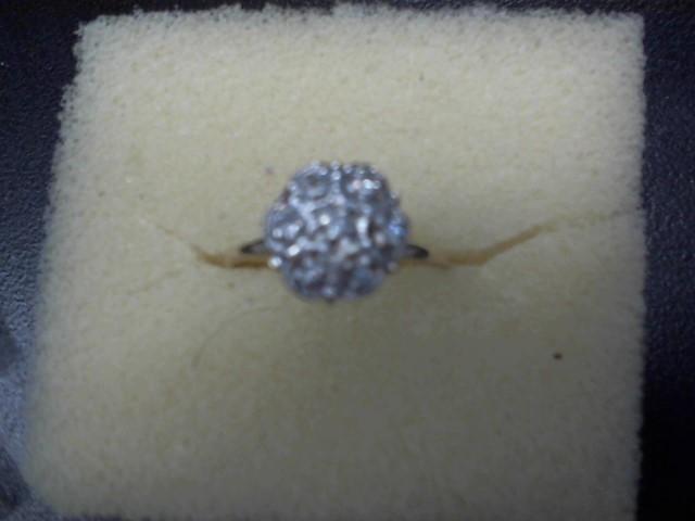 Lady's Diamond Cluster Ring 7 Diamonds .07 Carat T.W. 10K Yellow Gold 1.85g