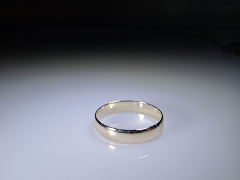 Gent's Gold Wedding Band 14K Yellow Gold 2.9g Size:8.5