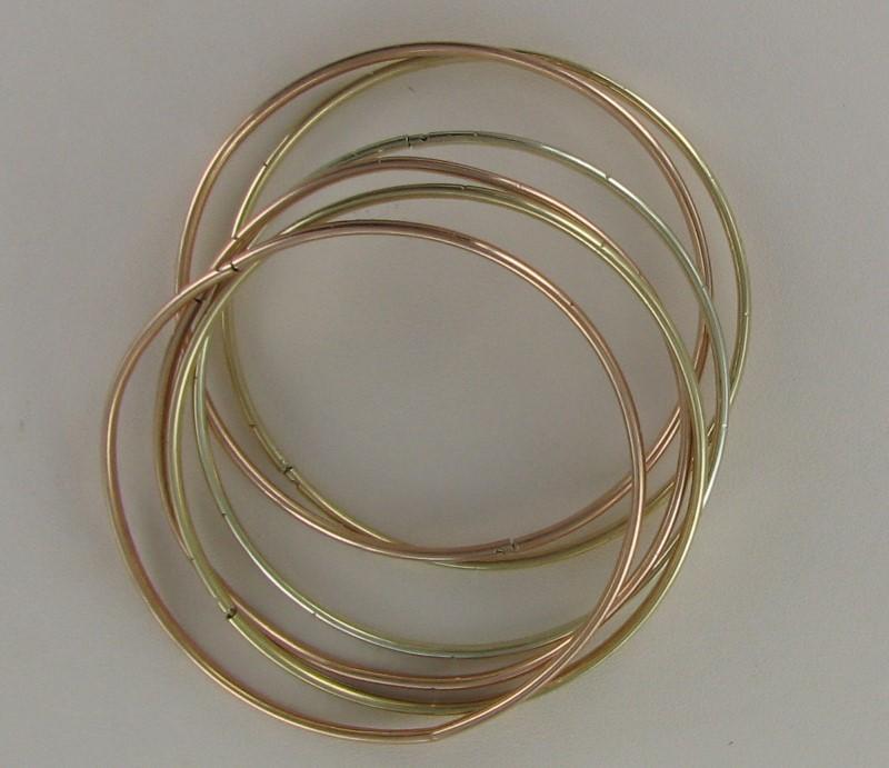 Gold Bracelet 10K 2 Tone Gold 17.4dwt