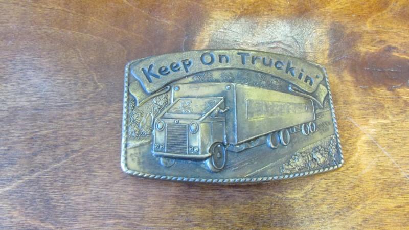 KEEP ON TRUCKIN' BELT BUCKLE